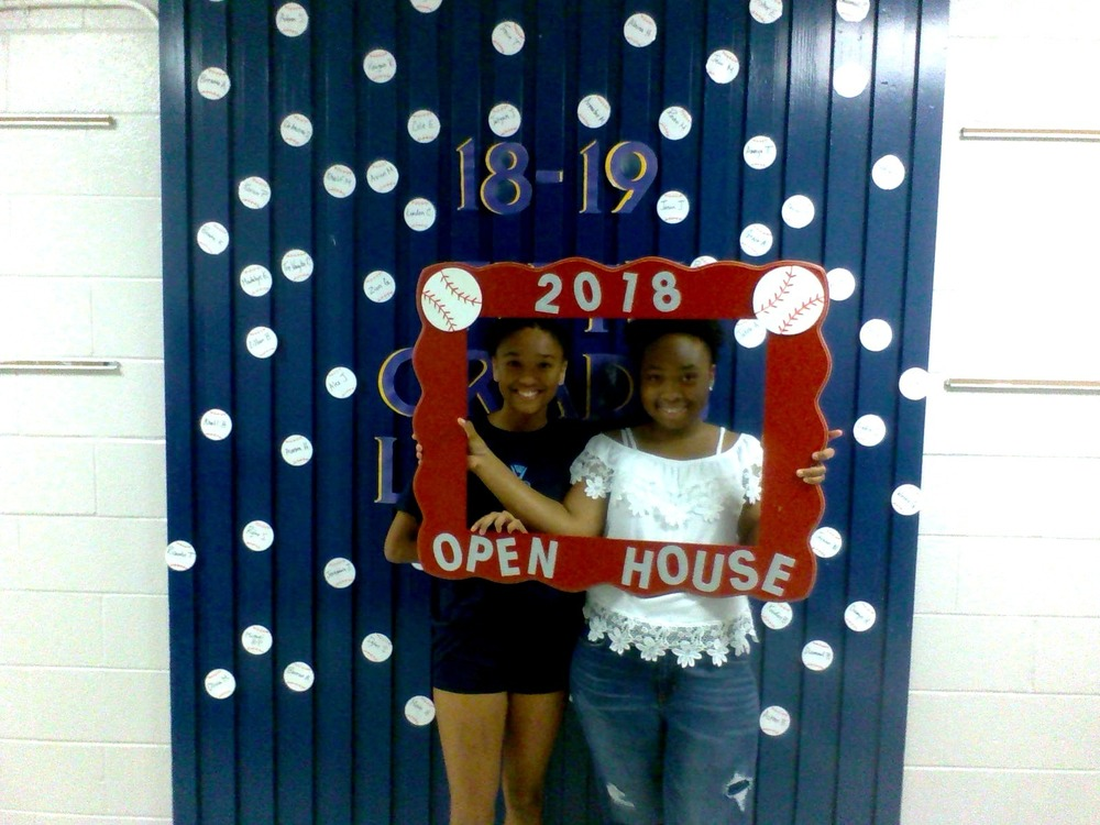 Excited 5th graders at Open House