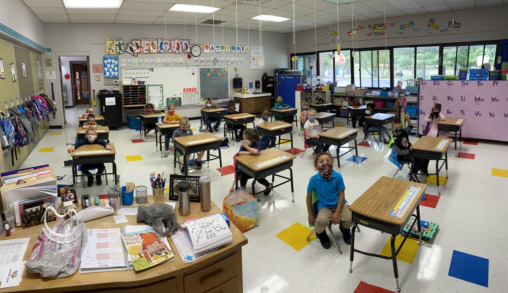 Kindergarten had a great first day.
