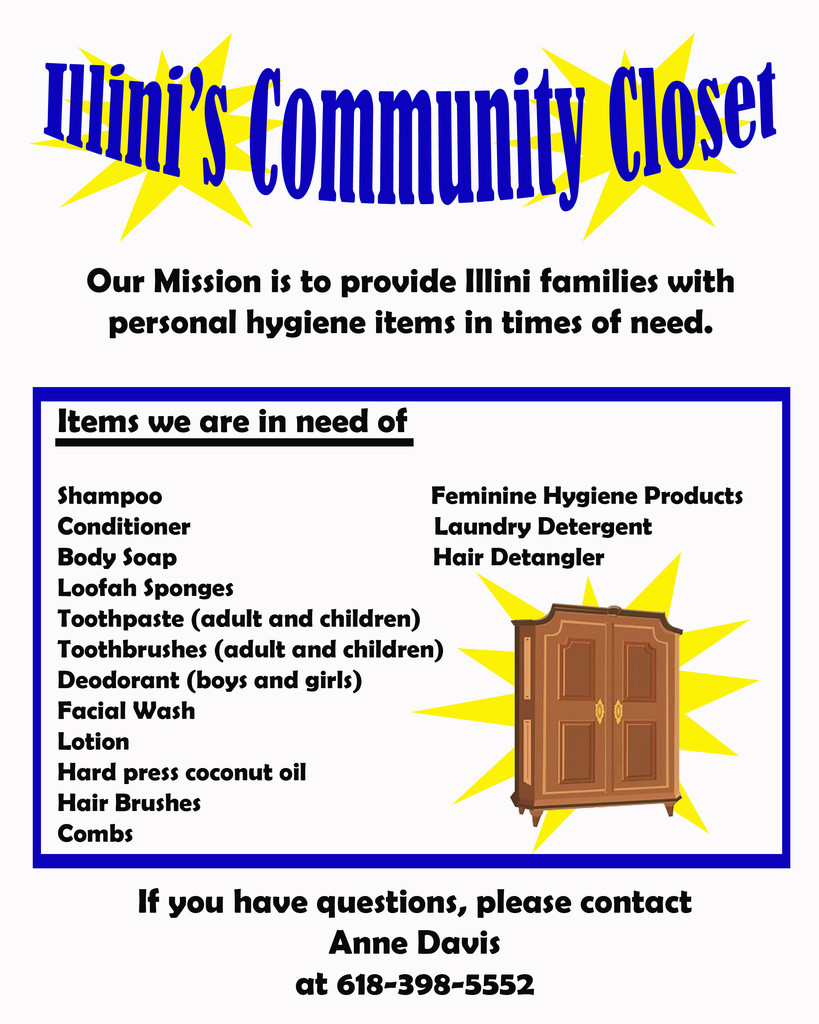 The IES Community Closet is looking for donations.