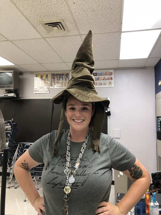 Ms Meyenburg- by the way it sorted her into slytheran.