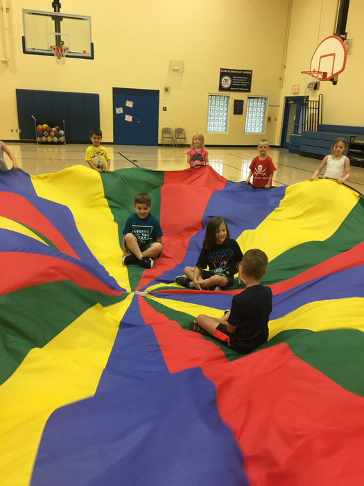 Making waves with the parachute!