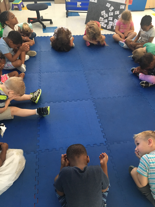 Afternoon meditation in Pre-K