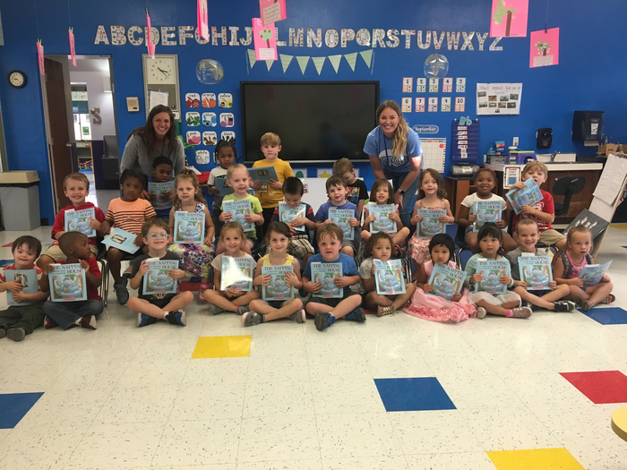 Pre-K/EC got their first donation of scholastic books from the Women4given program!