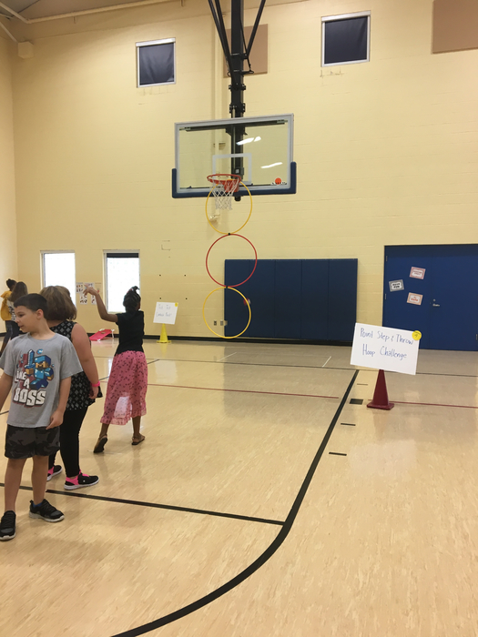 Overhand throw hoop challenge!