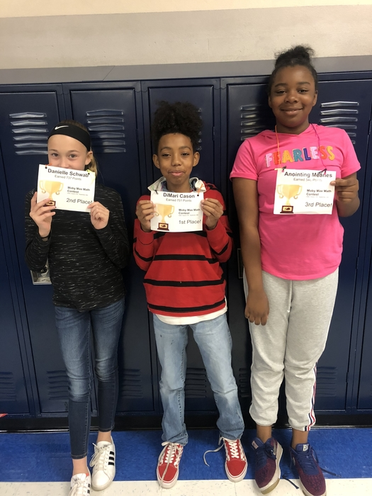 7th grade Moby Max Math Contest Winners