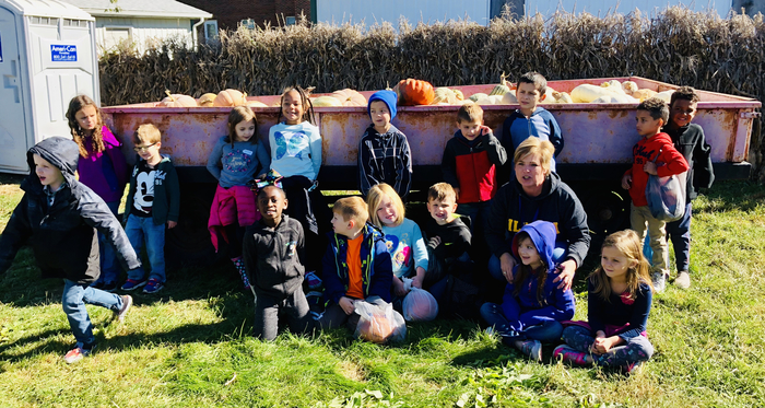 First grade pumpkin patch