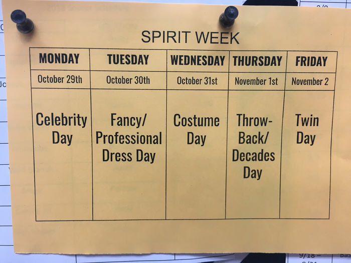 Spirit week at Grant