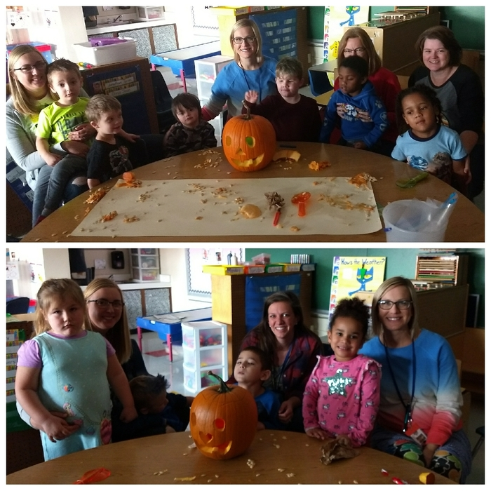 EC had a great time carving pumpkins with Ms. Reinacher and Ms. Shana. 🎃
