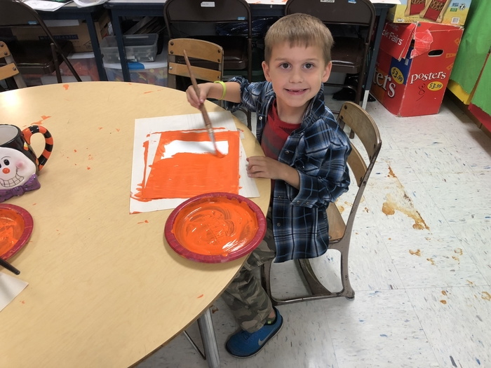 Painting in first grade