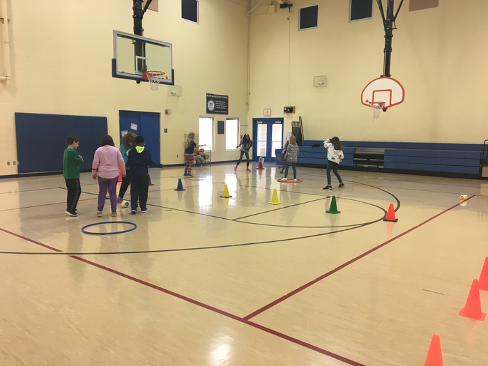 Scatterball with 4th grade!