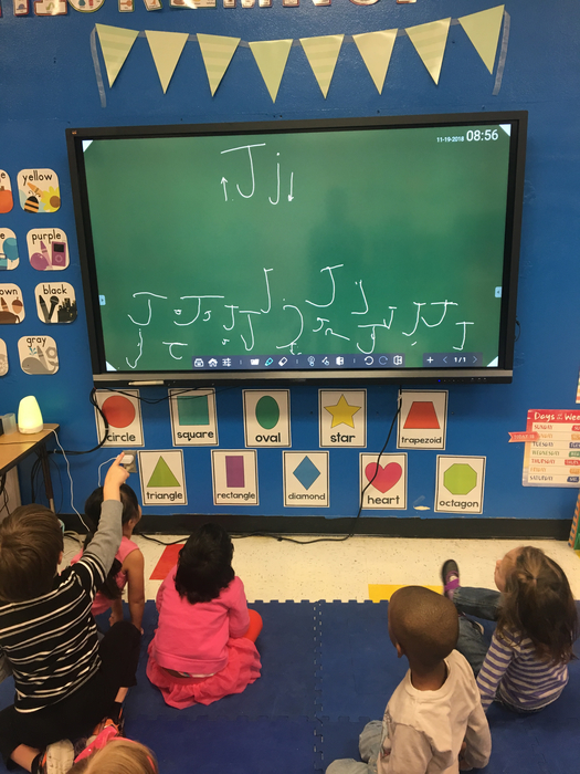 We are on the letter J! Pre-K is working on their writing skills!