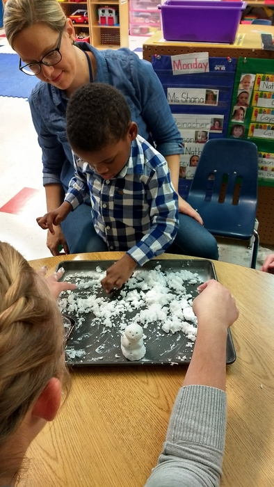 We made snow in OT group today ❄️⛄