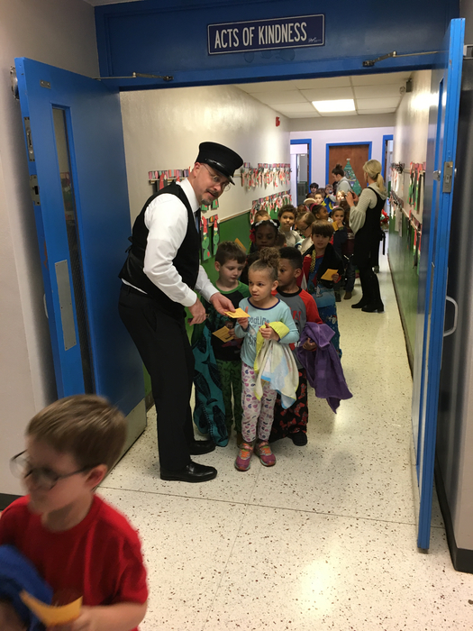 All aboard! Polar Express day in kindergarten.