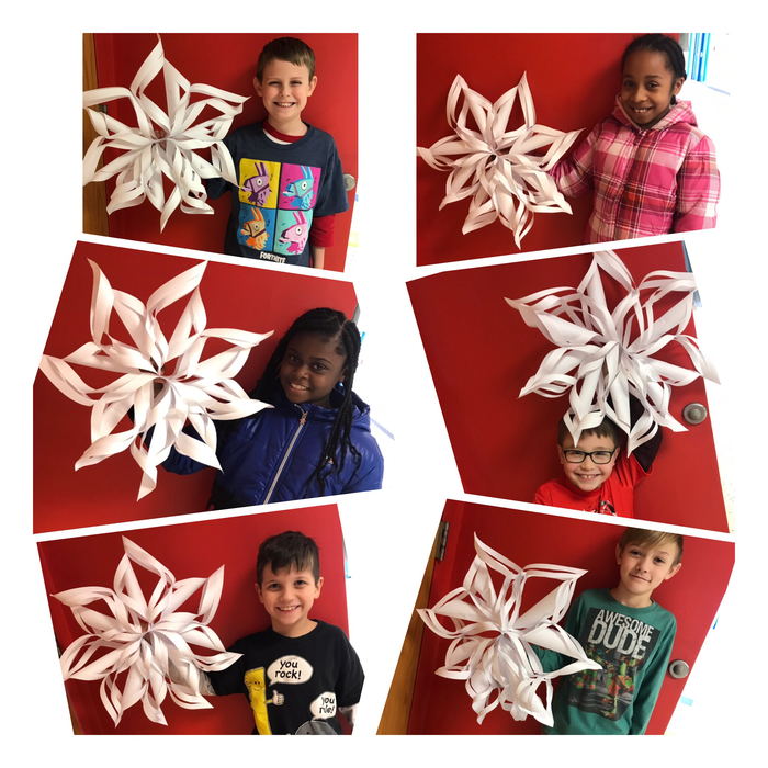 We made beautiful snowflakes today! ❄️
