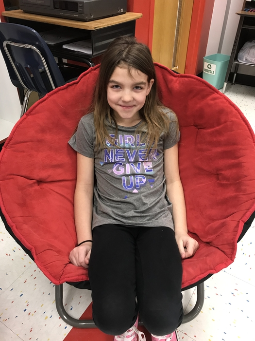 Thanks for reading to the class today, Dawn, AND, thanks for the saucer chair!!