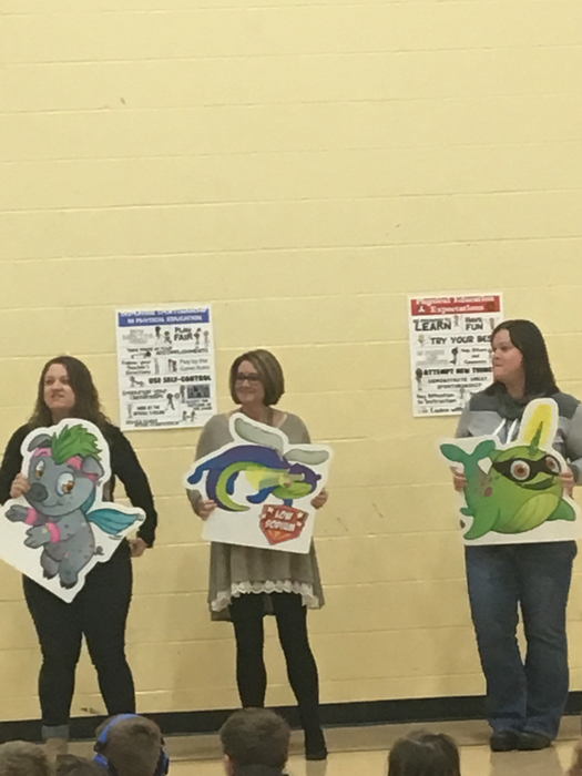 Illini teachers representing Heart Hero characters