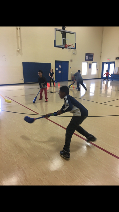 4th grade playing 6 Goal Hockey