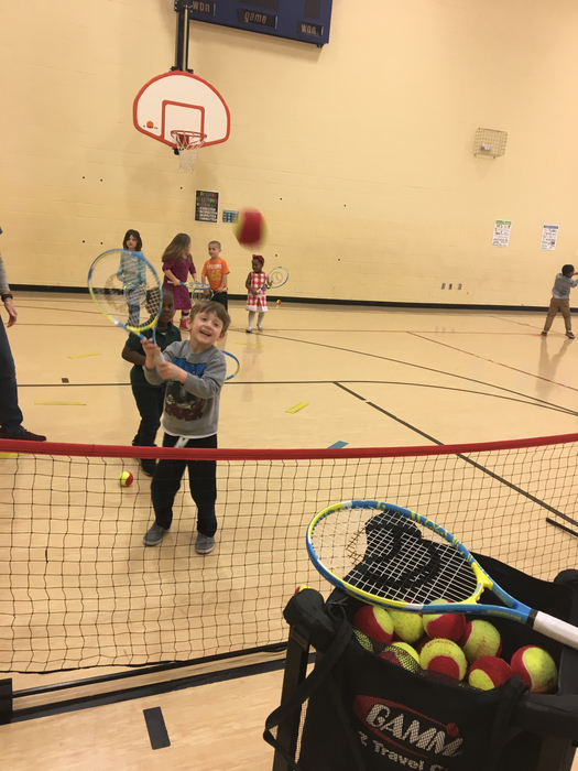 Pre-K/Early Childhood learning tennis!