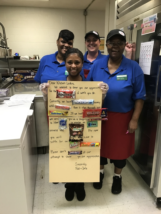 We love our kitchen ladies!