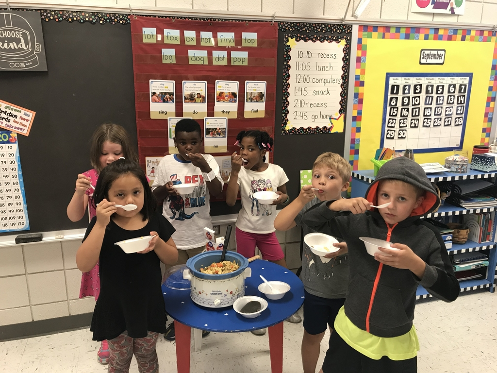 Stone soup was a hit with the first graders.