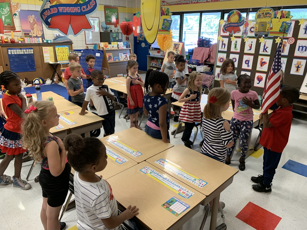 Reciting the Pledge of Allegiance in Kindergarten
