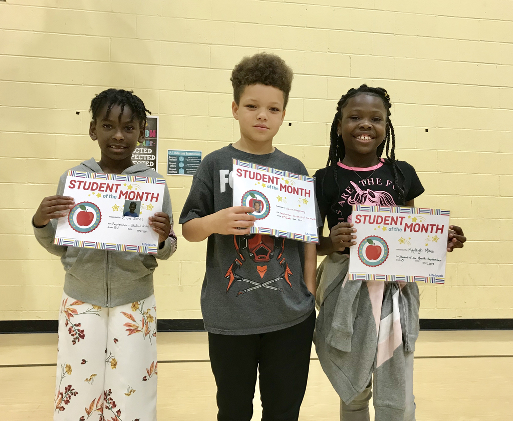 Third grade Students of the Month