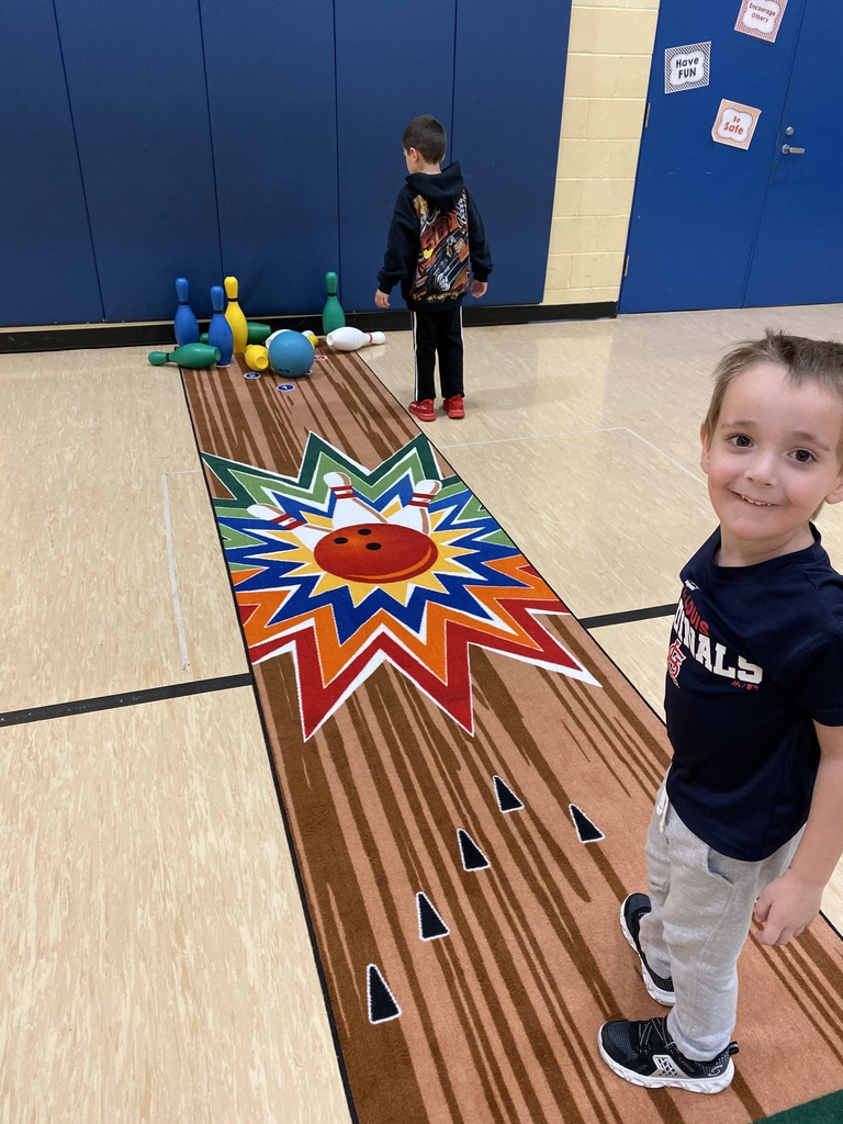 Pre-K having fun with bowling