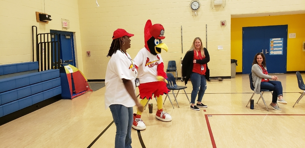 Fredbird and Mrs. Heins