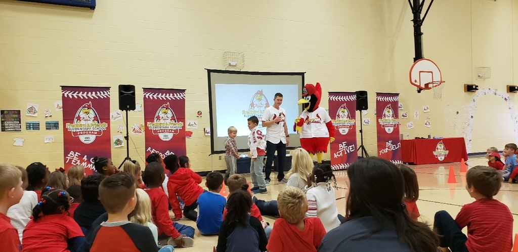 Fredbird shows baseballs are made of leather.