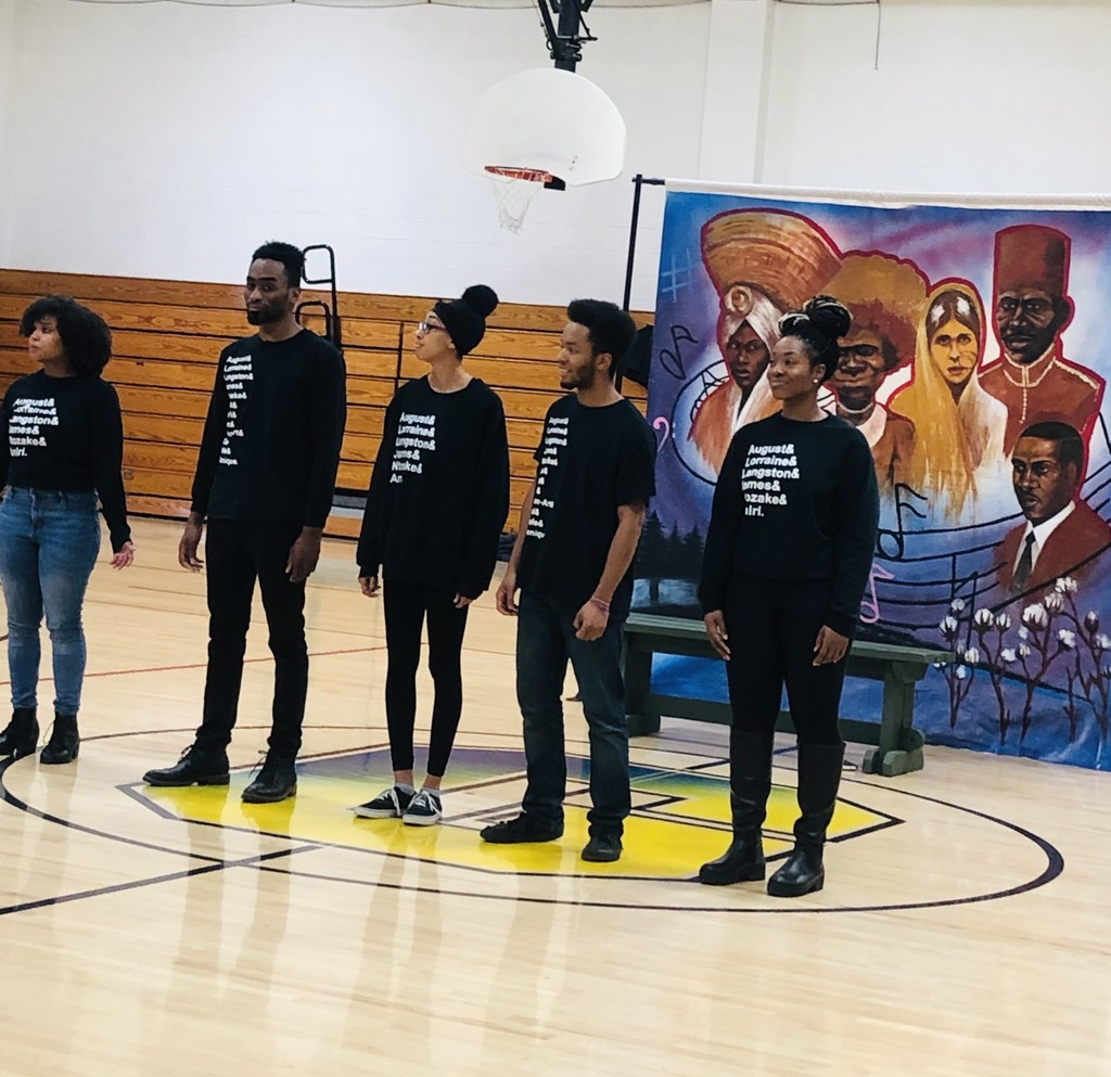 "Thank you to the Fairview Heights Public Library and the Black Rep of St Louis for bringing ""Freedom Songs"" to GMS today.  https://youtu.be/jBbf1o-WGMg"