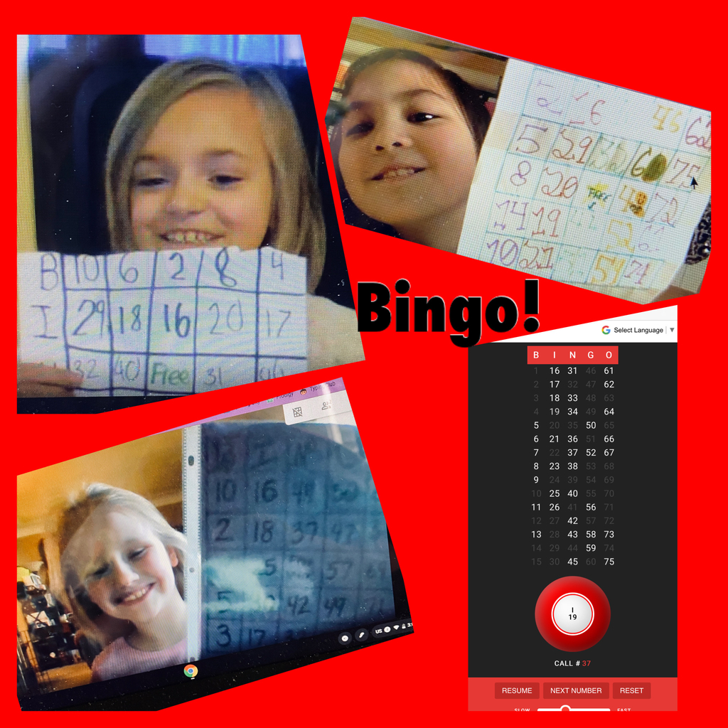 A-Z Countdown, Google Meet style. B is for wearing Blankets while playing BINGO!