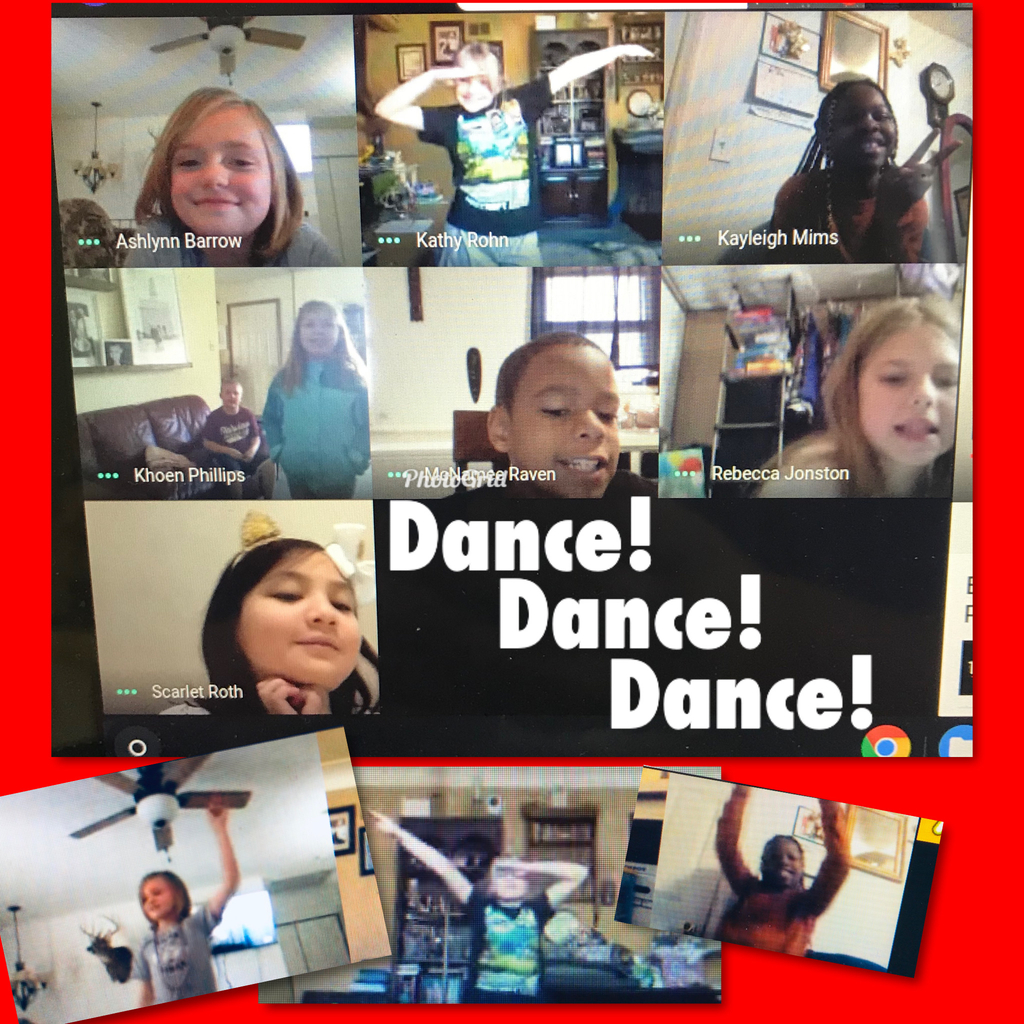 A-Z Countdown, Google Meet style. Day D: Mrs. Hundsdorfer's students showed off their DANCING skills!
